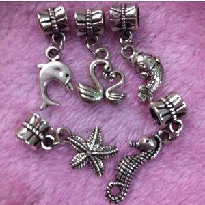 Jewelry - Seaworld starfish, Swan, Dolphin European Charm